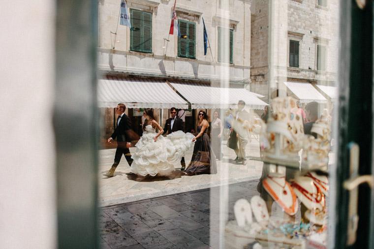Bridal party Stradun Dubrovnik