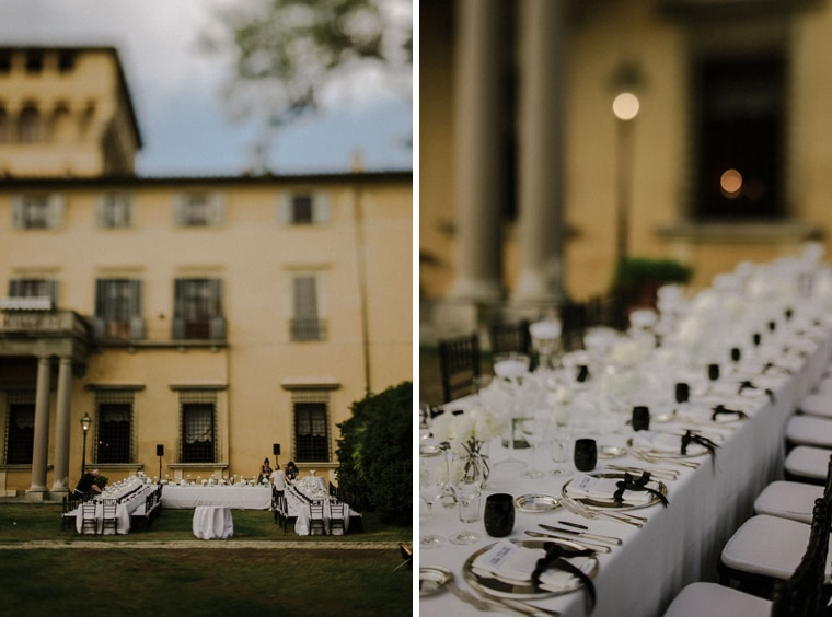 stylish wedding venue and decoration italy tuscany