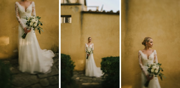 wedding dress tuscany italy