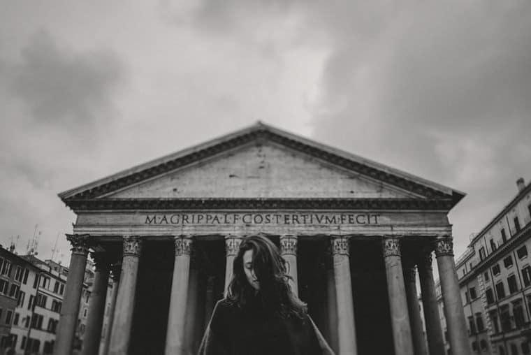 beauty rome italy pantheon