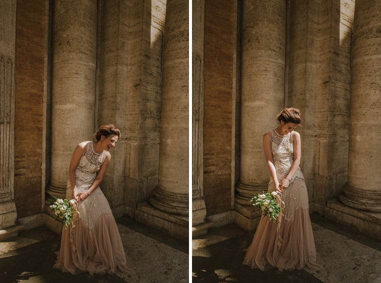 beautiful bride in rome