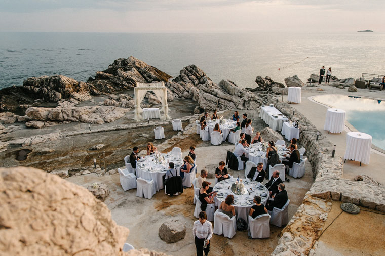 Most beautiful amazing top destination seaside breathtaking wedding venue Dubrovnik Croatia