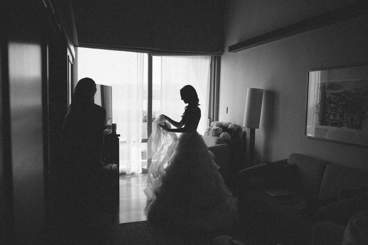 Bride getting ready in Dubrovnik