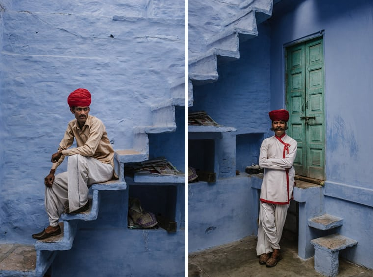 portrait of men in jaisalmer india