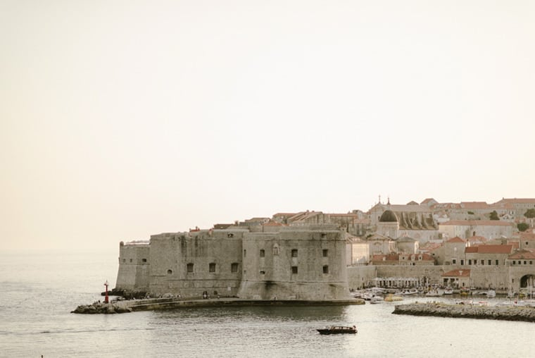 dubrovnik city wall photography at sunset