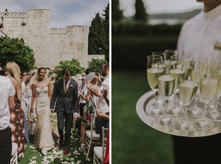 wedding reception at villa argentina dubrovnik