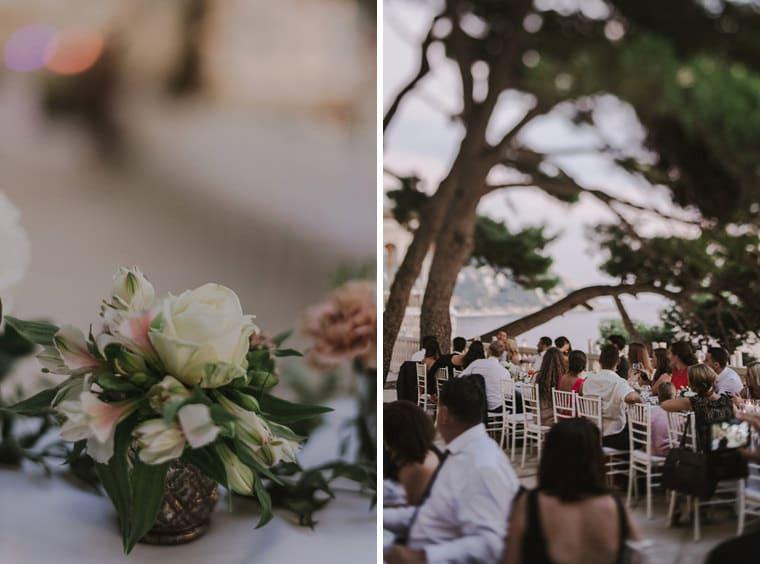 beautiful wedding setting at villa ruza in dubrovnik
