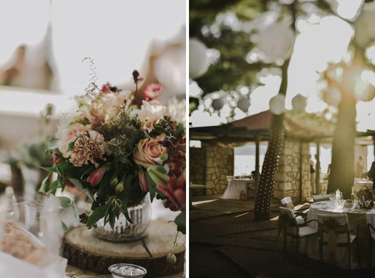 stunning setting for a wedding dinner at villa ruza in dubrovnik croatia