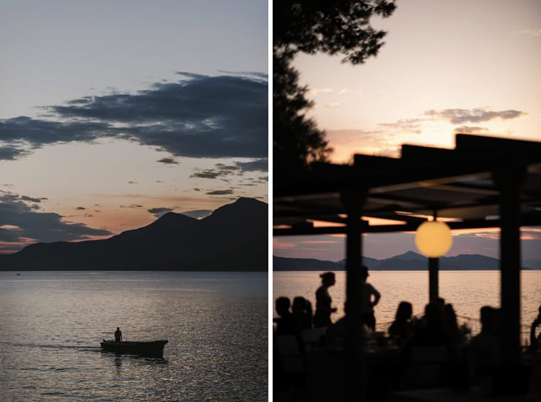 sunset wedding at villa ruza dubrovnik