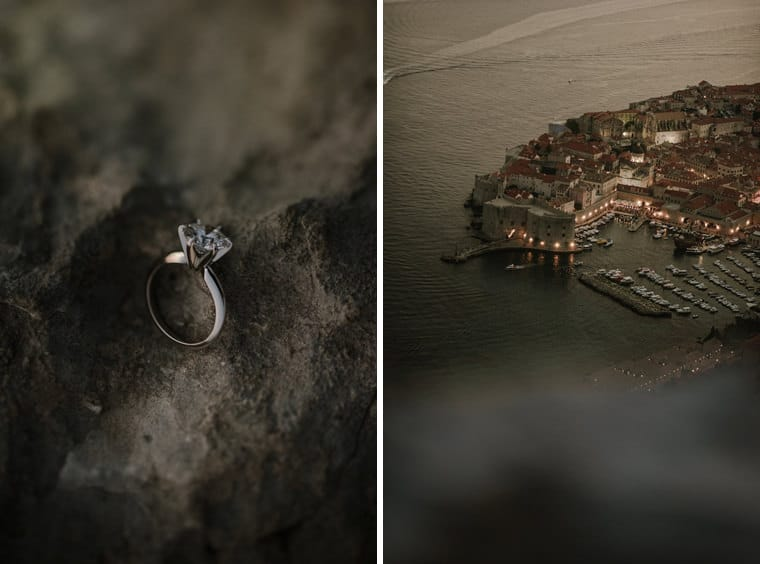 getting engaged in dubrovnik