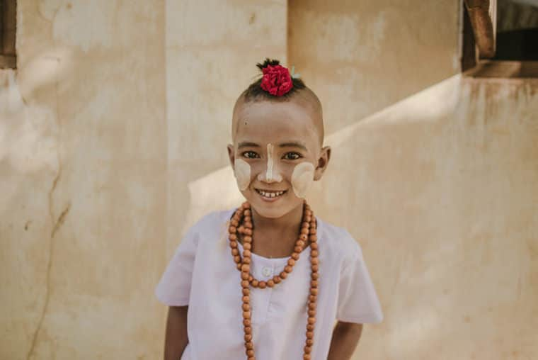 portrait of a little girl in bagan