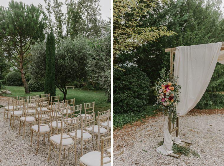 wedding setting blanche fleur