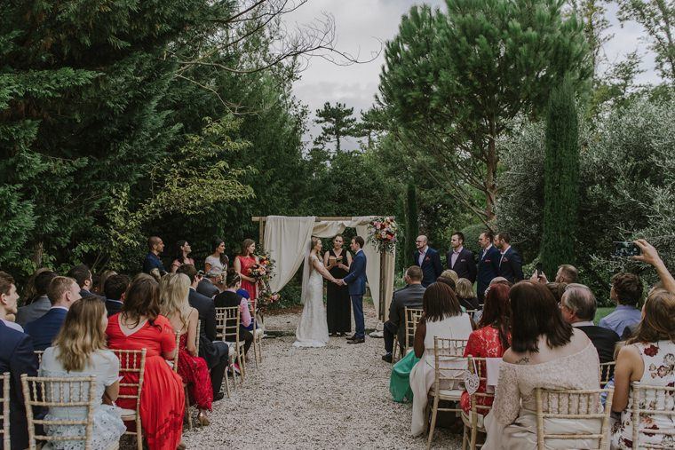 beautiful wedding ceremony in provence, blanche fleur
