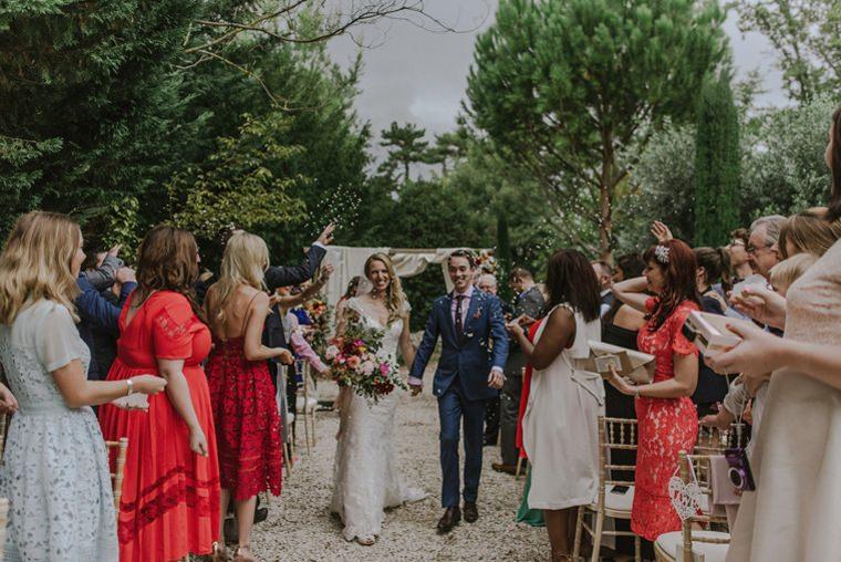 wedding confetti blanche fleur