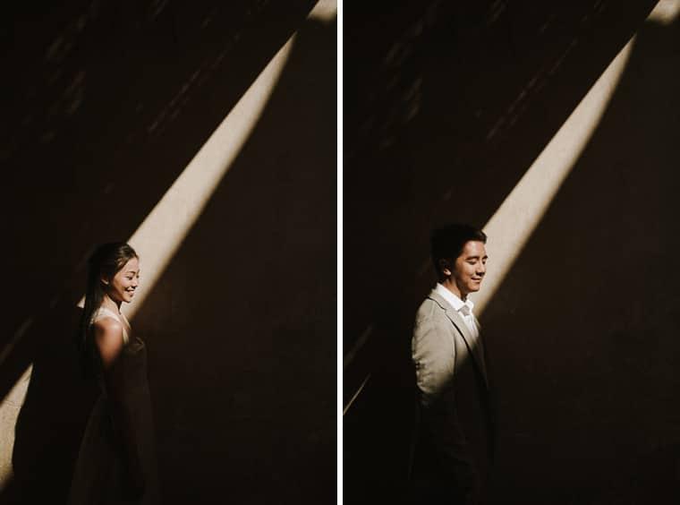 Creative bride and groom portrait bagan myanmar